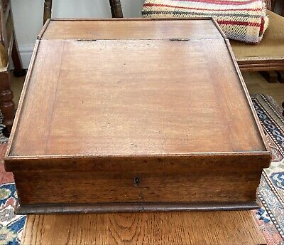 VICTORIAN TABLE TOP CLERKS WRITING SLOPE WITH DRAWERS