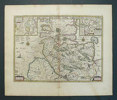 HERZOGTUM HOLSTEIN - Ducatus Holsatiae - Janssonius - Kupferkarte 1635