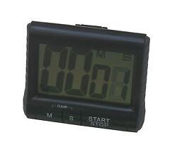 Loud Alarm Large LCD Digital Kitchen Timer Count-Down Up Clock Black
