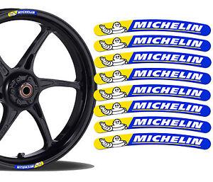 8 MICHELIN FELGENRANDAUFKLEBER AUFKLEBER AUTO MOTORRAD RACE RIM STICKERS R57