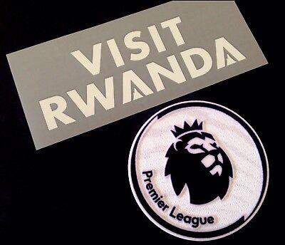 2018-19 Arsenal VISIT RWANDA Away Shirt OFFICIAL Sponsor Logo & Patch Set image
