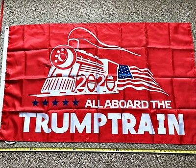 Donald Trump Flag FREE SHIPPING TRUMP TRAIN RED 3x5' 2020 Make America Great