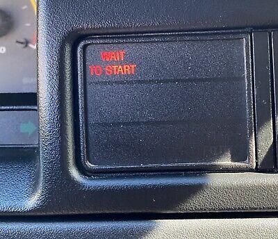 1992-1997 Ford 7.3L Diesel WAIT TO START Display