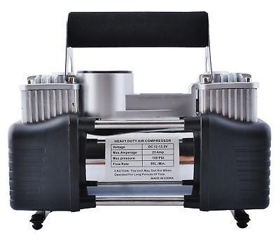 Auto Aire Compresor Doble Cilindro 12V Bomba Pistón Gemelo #4061