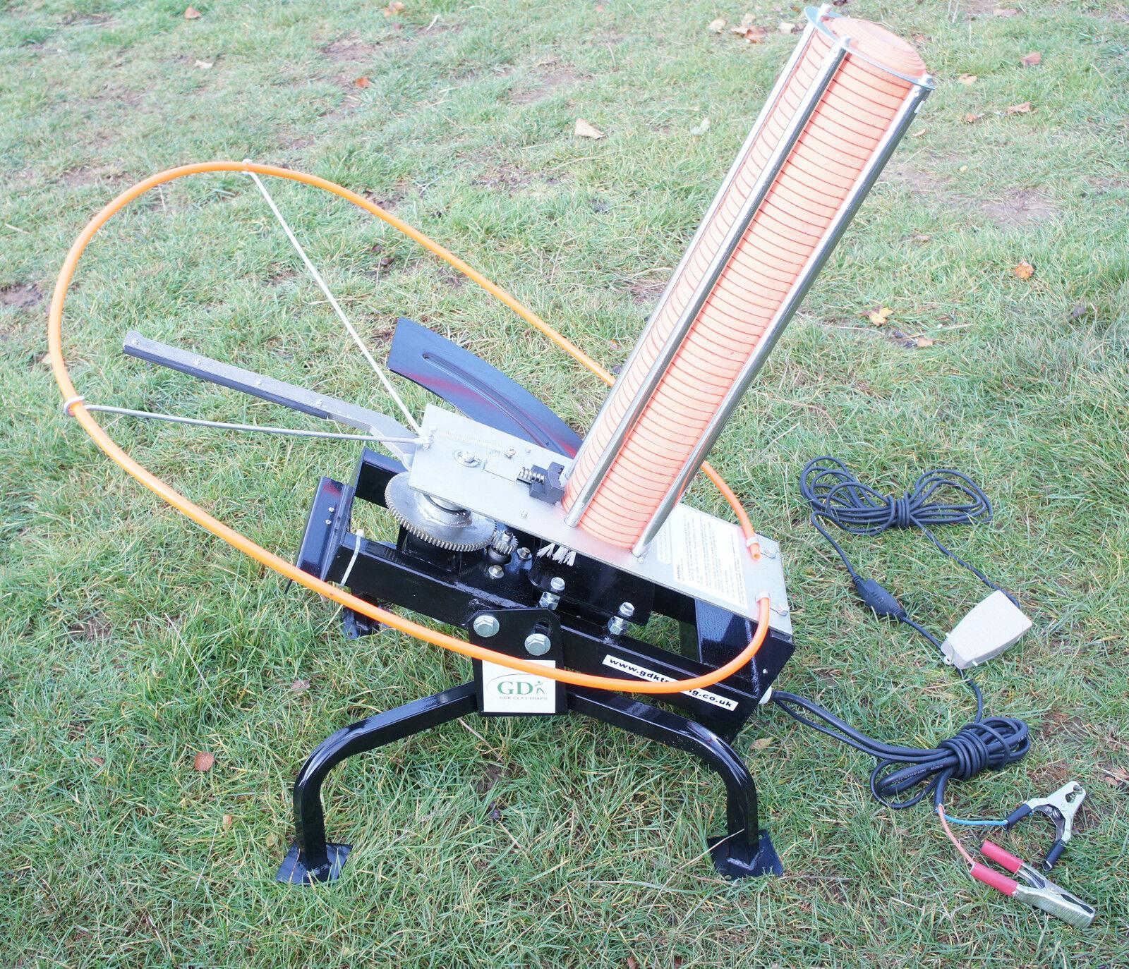 Gdk Black Quail Automatic 12v Electric Clay Pigeon Trap