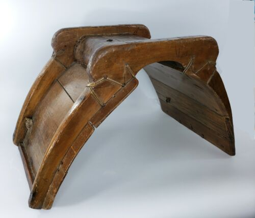 """Vintage Girthless Pack Saddle Wooden Occident Orient Mule Horse 28"""" x 17"""" x 17"""""""