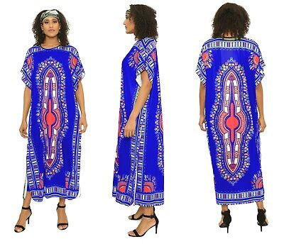 Ankle Length Dress - Dashiki Dress Kaftan Dress With Head Wrap Ankle Length Dashiki Dress Head Wrap