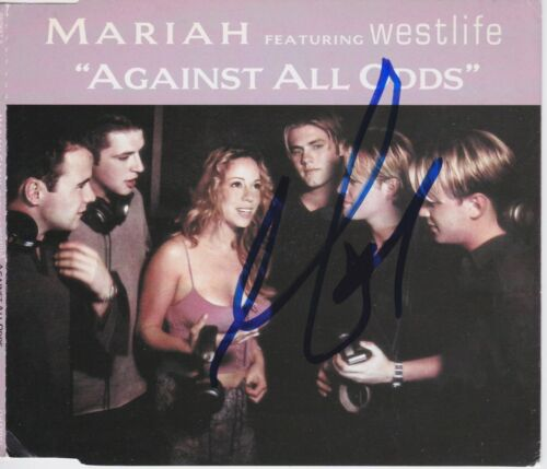 Mariah Carey signed Against All Odds import cd single