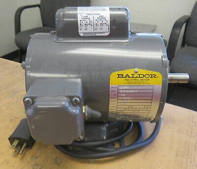Baldor Electric Motor L1304 12 Hp 115230v 60hz 1 Phase 1725 Rpm