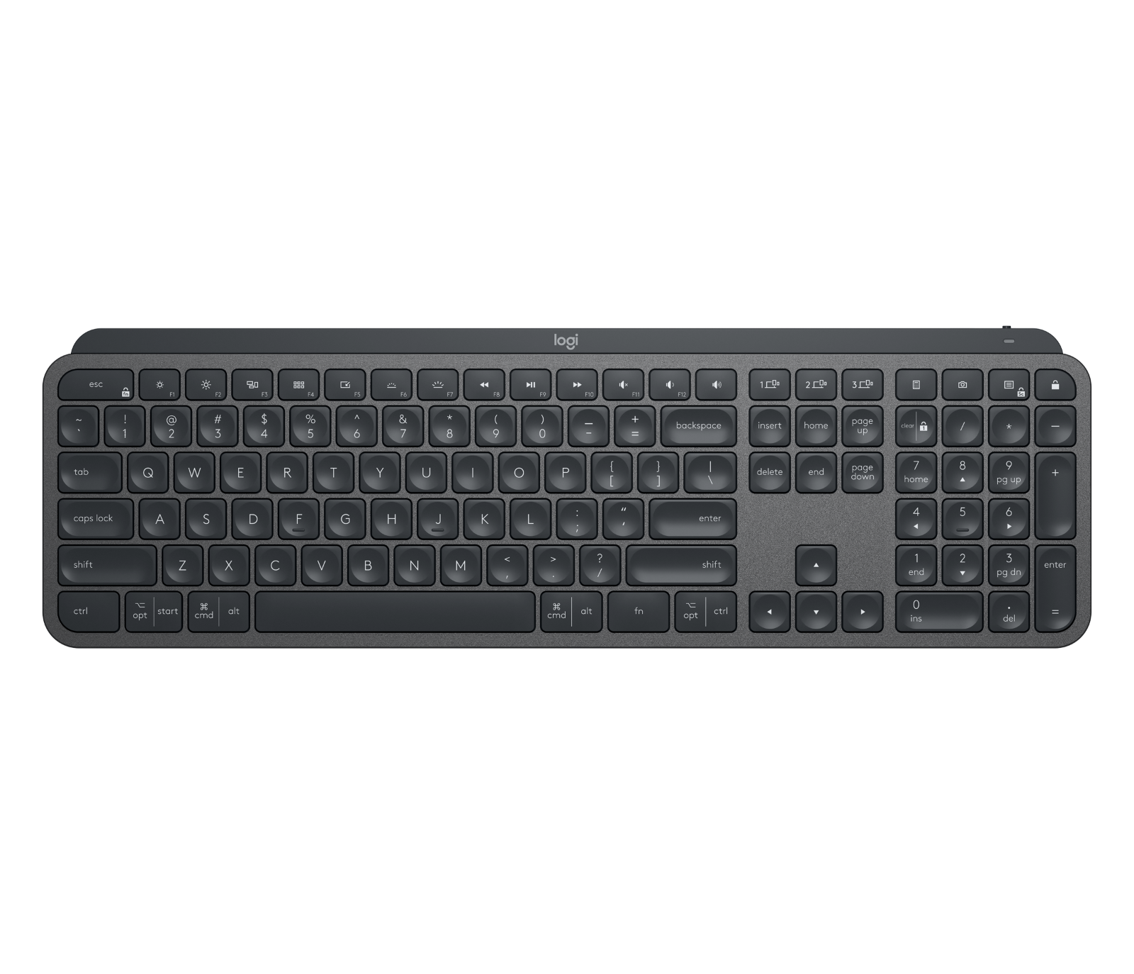 NEW Logitech MX Keys Advanced Illuminated Master Bluetooth B