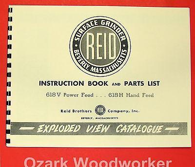 Reid 618v 618h Surface Grinder Instruction Manual 0575