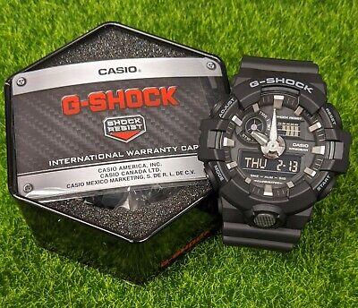 Casio G-Shock Black Resin Analog/Digital Mens Watch - GA-700-1BCR