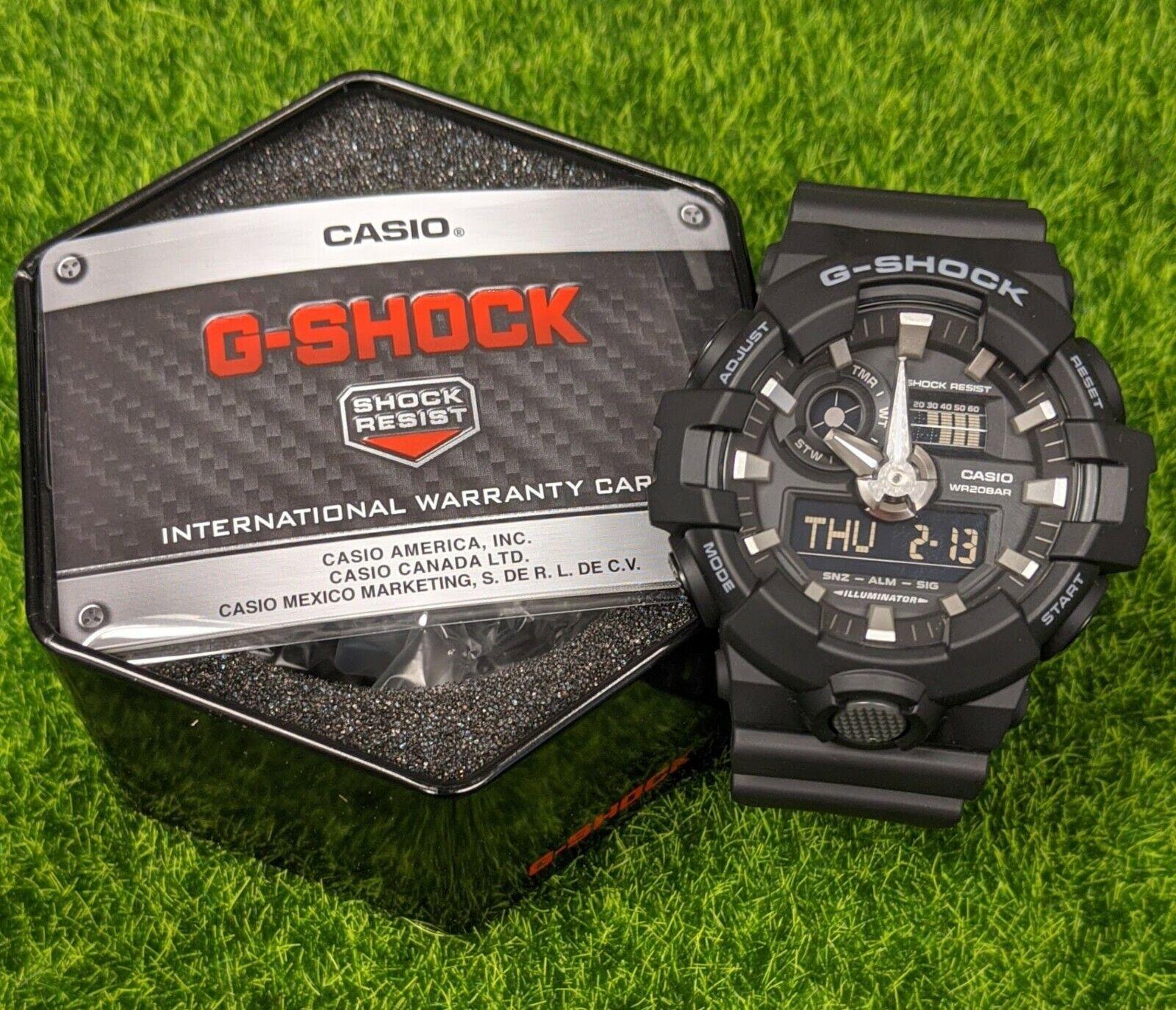 G-Shock Men's Analog-Digital Black Resin Strap Watch 53x58mm