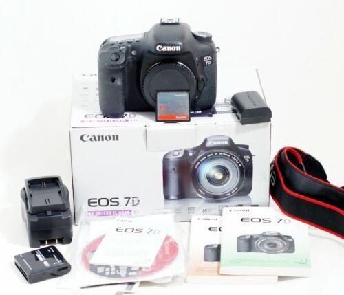 Canon EOS 7D 18.0MP Digital SLR DSLR Camera Body ONLY 16k SHUTTER COUNT
