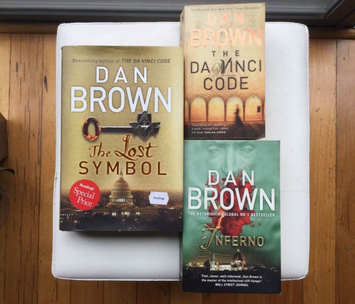 3 Dan Brown Books Inferno Da Vinci Code The Lost Symbol Fiction