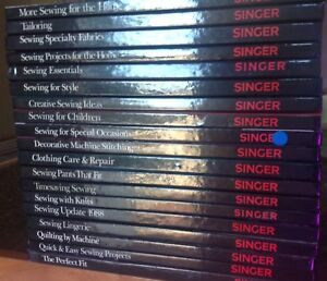 19 Singer Sewing Essentials Hardcover Books