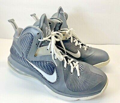 Nike Lebron James 9 Dunkman Basketball Shoes 469764 Gray & Silver Men's Size 8
