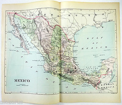 Original 1902 Map of Mexico