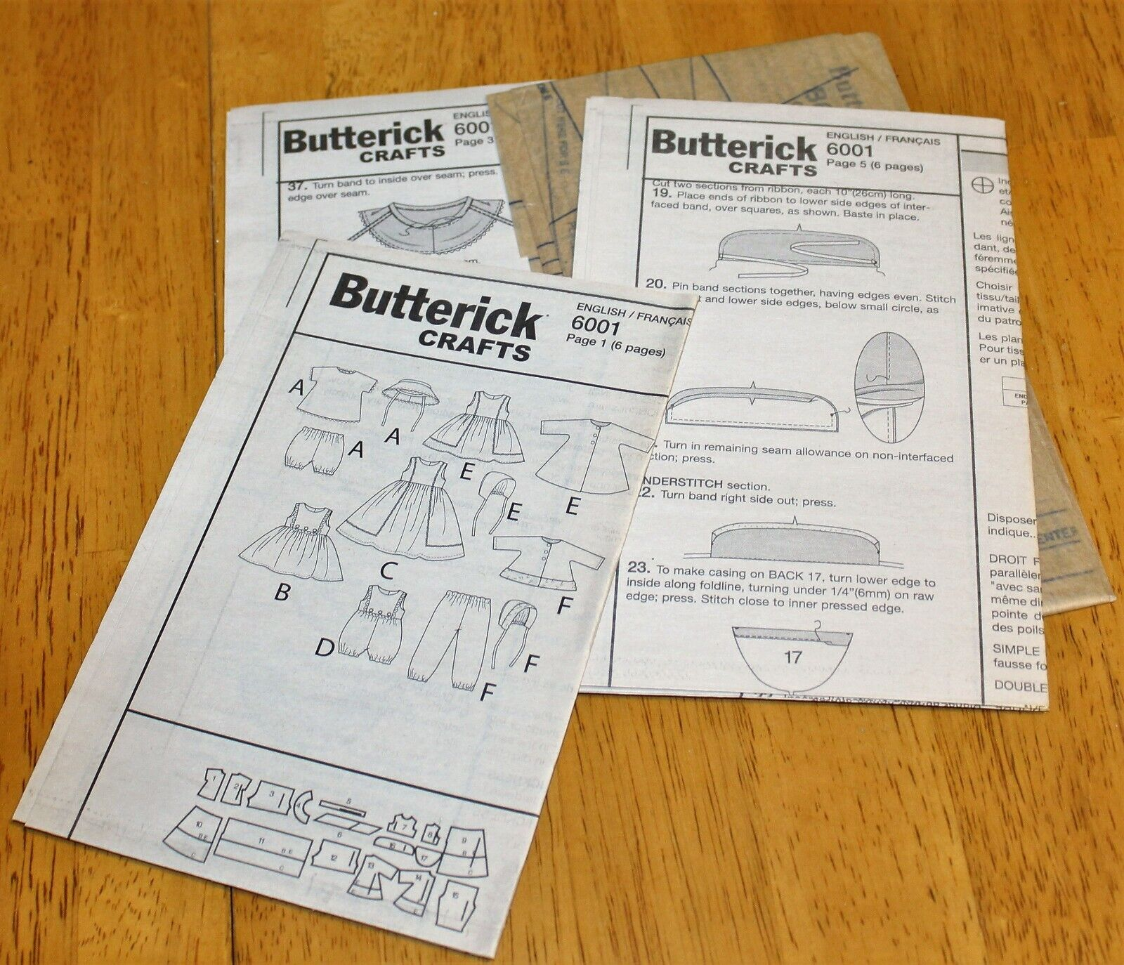 Butterick PATTERN 6001 RETRO 56 DOLL CLOTHES 18 INCH DOLL - NEW - $4.49