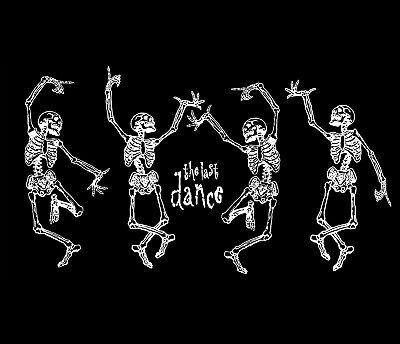 Dancing Skullten  Mens T Shirt Skull Hard Core Punk Rock Halloween S-4XL