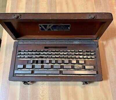 Vintage 77 Piece Van Keuren Set No 944 Precision Gage Blocks 5 Pieces Missing