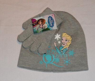Mädchen Disney Frozen Eiskönigin Wintermütze Handschuhe Set Anna - Frozen Mädchen Anna Handschuhe