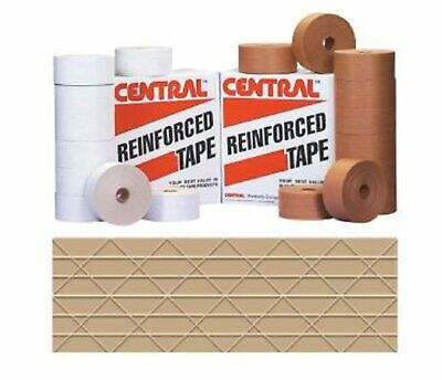 Central Reinforced Gummed Kraft Tape 2.75in 70mm X 375ft Water Activated Paper