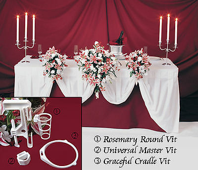 3 Wedding Flowers Bridal Bouquet Holder O Table Display Decorations Clamp 3VITS