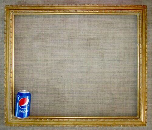 """Large ornate American Omega gilded gold picture painting frame 20"""" x 24"""" gilt"""