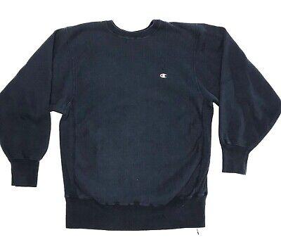 Vintage 90s Champion Reverse Weave Navy Blue Crewneck Sweatshirt Size XL