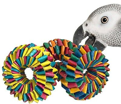 Foot Toy - 03343 Tire Foot Toy 3 Pack Parrot  Birds Toys Craft Part Talon Foot Chew Shred