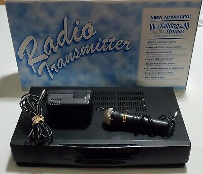 Advanced Talking House Model TH 5.0 AM Transmitter With Microphone & Power cord