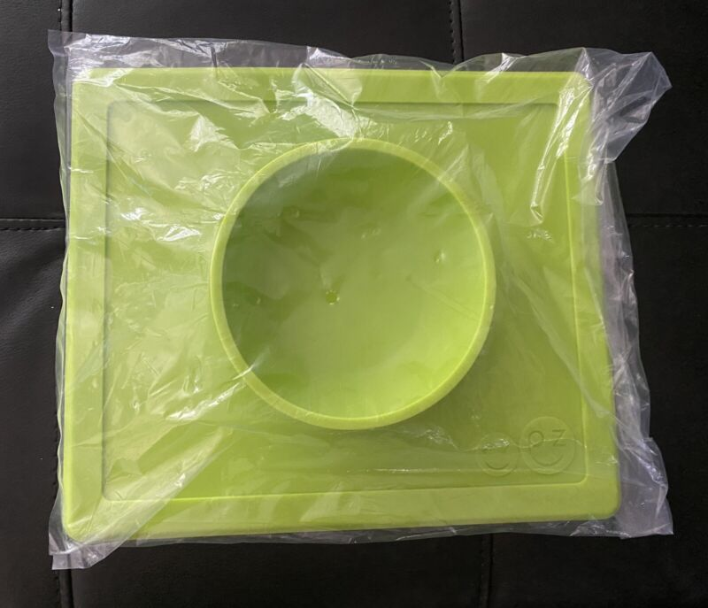 ezpz Happy Bowl Silicone placemat Lime Green New