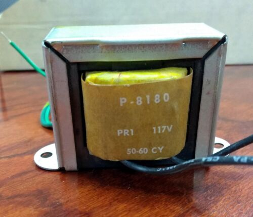 Power Transformer, CT, Bobbin, Stancor P-8180  primary 110V; secondary 24V e0131