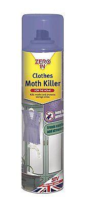 Zero In Clothes Moth Killer (300 ml Aerosol)  **FREE DELIVERY**