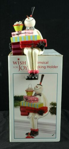 Christmas Whimsical Snowman Stocking Holder