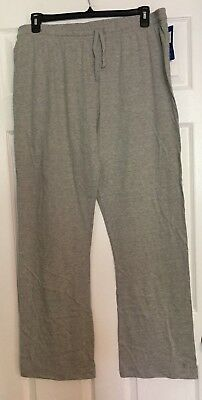 Champion ladies jersey knit pants bootcut elastic drawstring XL OR 2XL Grey NWT