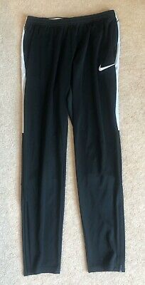Men's Nike Dri-Fit Black & White Tracksuit Bottoms / Joggers - Size M / Medium
