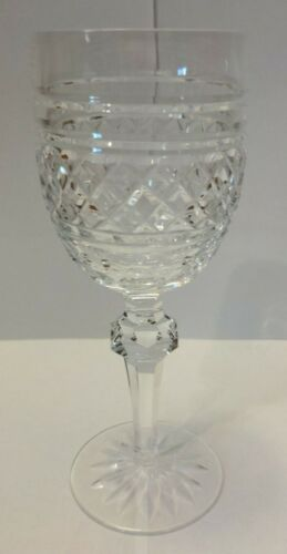 """WATERFORD CASTLETOWN CLARET GOBLET 7.125"""" TALL  WINE GLASS MINT CONDITION"""