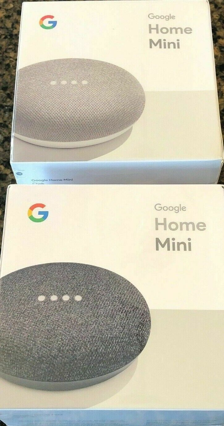 Google Mini Google Personal Assistant - Charcoal Chalk You P