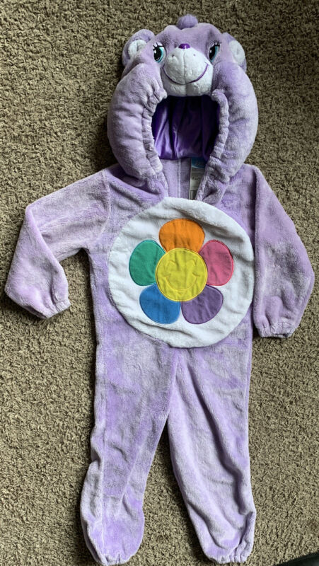 Purple Care Bears Halloween Costume Size 3T - 4T - Daisy Hooded SO CUTE!!