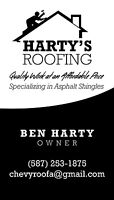 Harty's roofing for all your roof needs