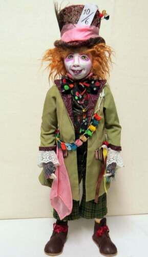 "Cloth Art Doll Pattern ""Hatter"" By Sharon Mitchell"