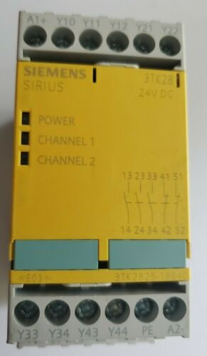 Siemens 3TK2825-1BB40 Safety Relay;Sirius DualChannel;24vdc;Automation PLC,Robot