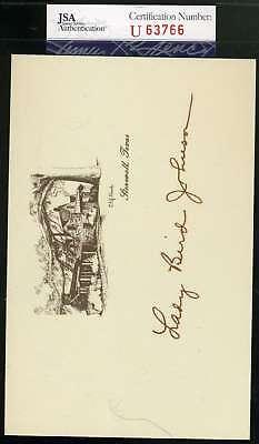LADY BIRD JOHNSON JSA COA Hand Signed Greeting Card Autograph Authentic