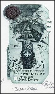 Hujber Gunter C2 Exlibris 2008 Bookplate Tower of Babel Bible Religion 8 - <span itemprop=availableAtOrFrom> Dabrowa, Polska</span> - Hujber Gunter C2 Exlibris 2008 Bookplate Tower of Babel Bible Religion 8 -  Dabrowa, Polska