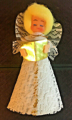 Vintage Christmas Angel Tree Topper Lace 7.5 inch Light weight