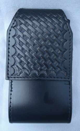 PERFECT FIT LEATHER DUTY BELT BASKETWEAVE GALAXY S3 S4 CELL PHONE CASE  NOS    9