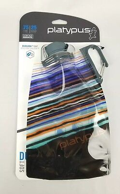 ee1f0db8743 Platypus DuoLock SoftBottle Collapsible Water Bottle Multi Striped .75-Liter
