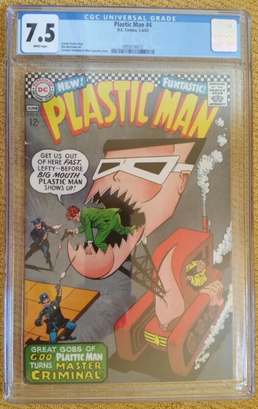 Plastic Man #4 (DC, 5-6/67) CGC 7.5 VF-